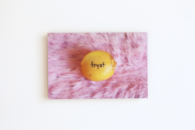 , 'Tryst (tattooed lemon),' 2015, Resource Art