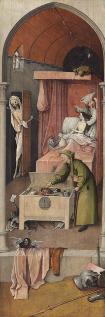 Hieronymus Bosch, 'Death and the Miser', ca. 1485/1490, National Gallery of Art, Washington, D.C.
