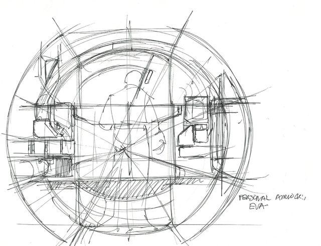 Syd Mead, 'Concept Sketch for Aliens Game, Personnel Airlock EVA', 2007, Edward Cella Art and Architecture