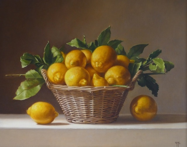 , 'Lemons in a Basket,' 2017, The Biscuit Factory