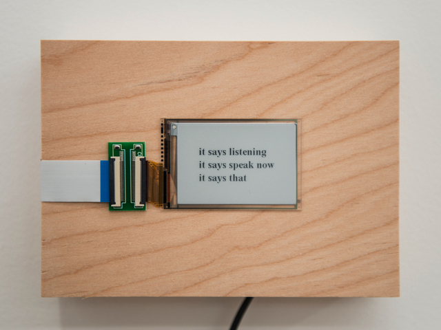 , 'it says...,' 2015/2016, Postmasters Gallery