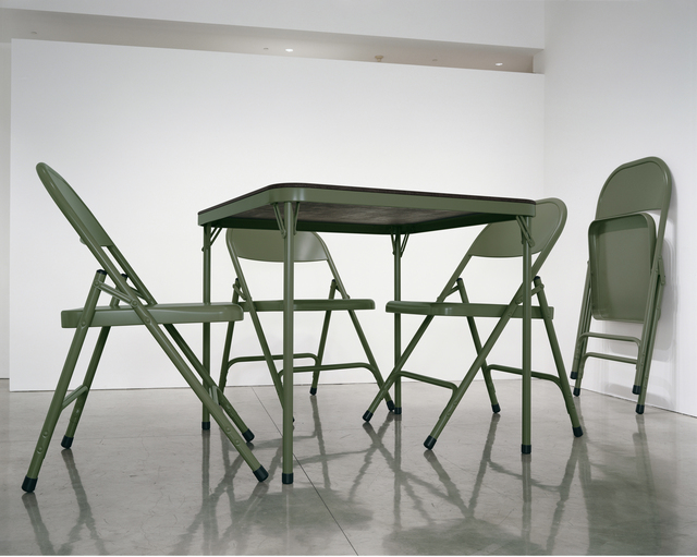 Robert Therrien, 'No Title (folding table and chairs, green),' 2008, Gagosian