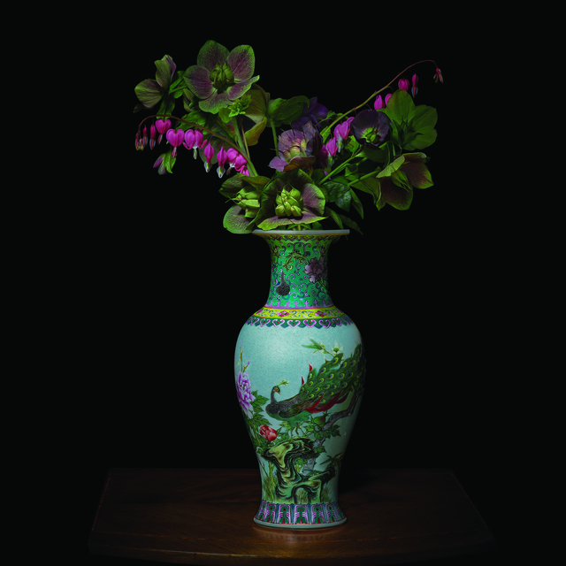 , 'Hellebores and Bleeding Hearts in a Chinese Vessel,' 2018, Galerie de Bellefeuille