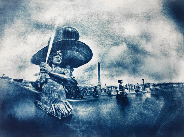 Tricia Rosenkilde, 'Place de la Concorde', 2020, Photography, Cyanotype from Pinhole Calotype, FREMIN GALLERY