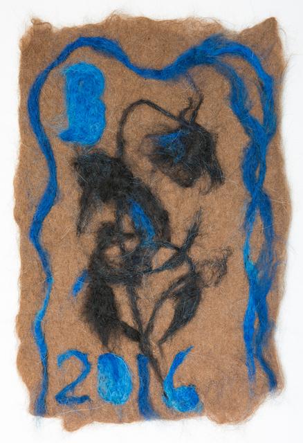 , 'rose (blue/black/brown),' 2016, Alter Space
