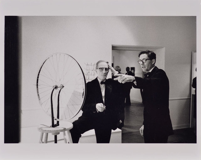 , 'Duchamp with Walter Hopps Pointing, Duchamp Retrospective, Pasadena Art Museum,' 1963, Robert Berman Gallery