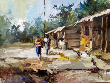 , 'Village Houses,' 2018, Nicholas Roman Fine Art