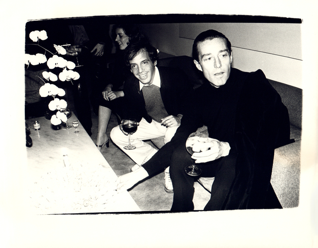 Andy Warhol, 'Andy Warhol, Photograph of Steve Rubell and Halston circa 1979', ca. 1979, Hedges Projects