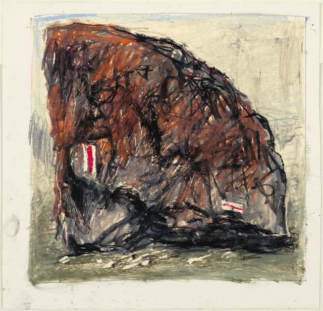 Wilfrid Moser, 'Untitled (Signe de piste)', 1983, Drawing, Collage or other Work on Paper, Lot of 3 oil crayon drawings, Koller Auctions