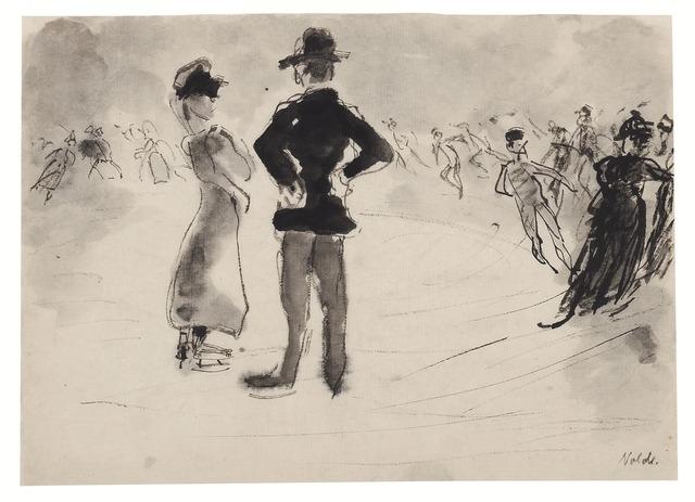 , 'Schlittschuhläufer,' 1908, Galerie Utermann