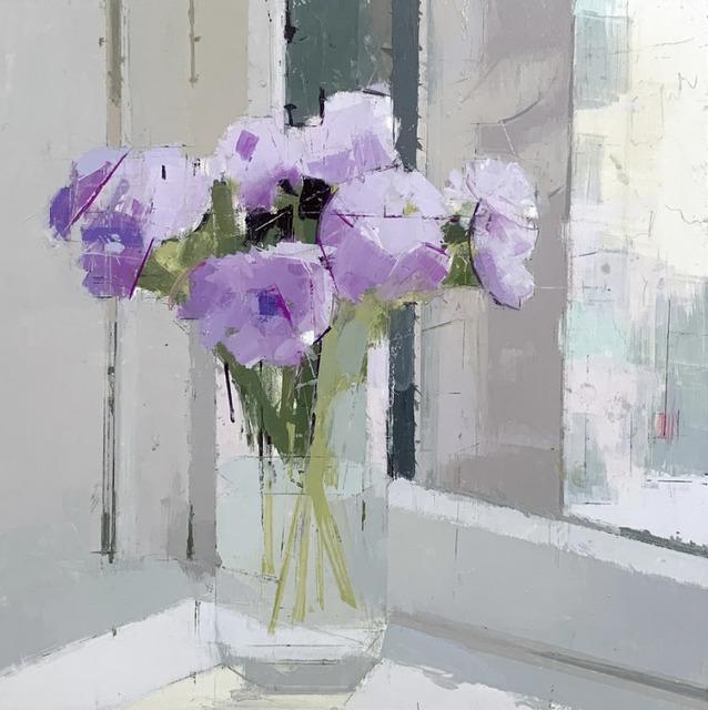 Lisa Breslow, 'Purple Flowers', 2019, Kathryn Markel Fine Arts