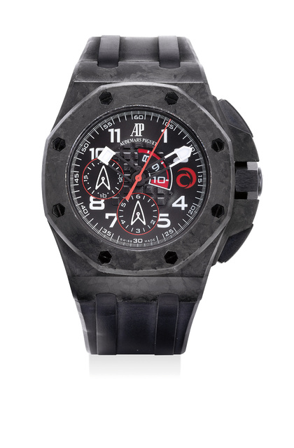 Audemars Piguet, 'A fine and rare carbon automatic regatta chronograph wristwatch with box, numbered 387 of a limited edition of 1300 pieces', 2007, Phillips