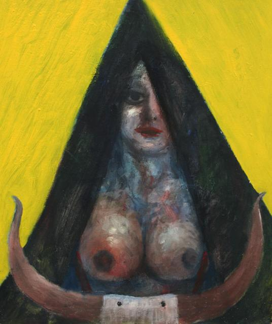 , 'Woman in black triangle with cow horns,' 1982, The Noble Sage Collection