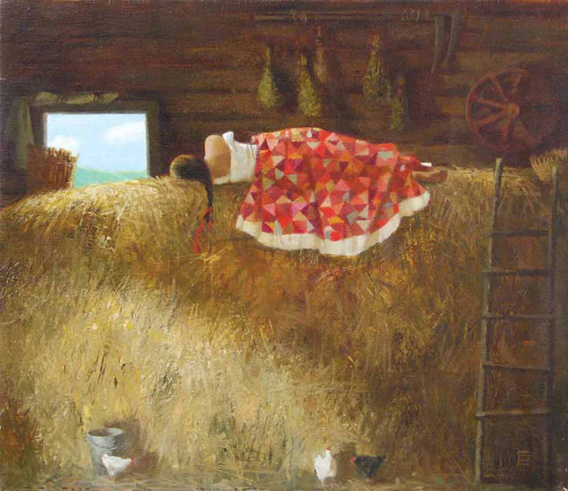 , 'On the Hayloft,' 2008, Paul Scott Gallery & galleryrussia.com