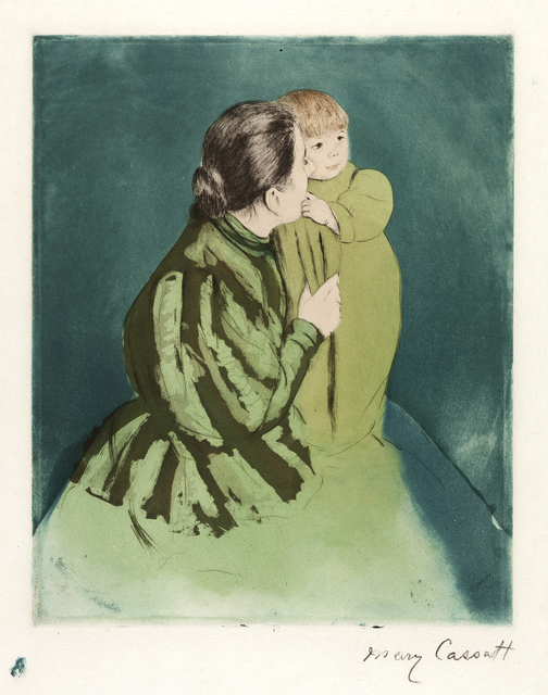 ", '""Peasant Mother and Child"",' 1894, Catherine E. Burns Fine Prints"