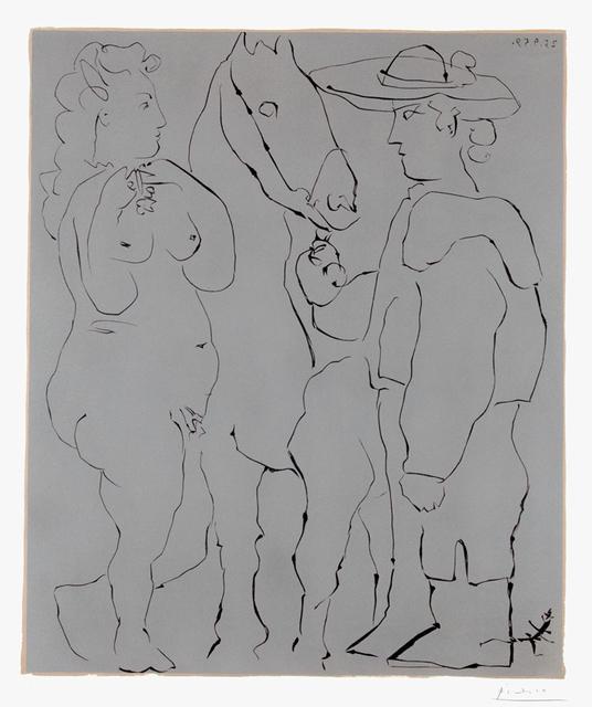 , 'Picador debout avec son cheval et une femme (Picador, Woman, and Horse), 1959,' 1959, Masterworks Fine Art