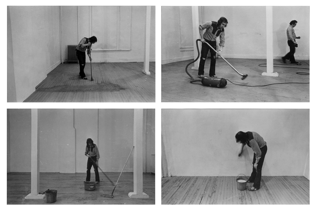 , 'Four Activities: Sweeping, Vacuuming, Mopping, Washing, 20 March 1971,' 1971, Rossi & Rossi