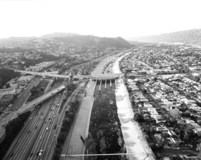 , 'L.A. River Looking Northwest, I-5 and Los Feliz at Left,' 2004, Danziger Gallery