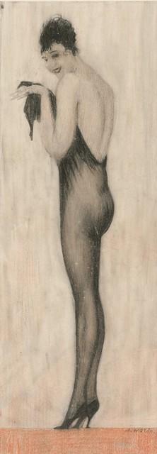 ", '""Der lange Strumpf"" (The long stocking),' 1922-1925, Galerie Bei Der Albertina Zetter"
