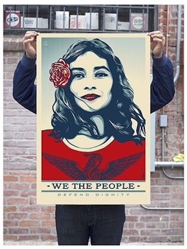 Shepard Fairey, 'Defend Dignity - Unsigned Offset', 2017, Blackline Gallery