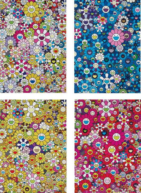 Takashi Murakami, 'An Homage to Yves Klein Multicolor B; An Homage to IKB 1957 B; An Homage to Monogold 1960 B; and An Homage to Monopink 1060 B', 2012, Phillips