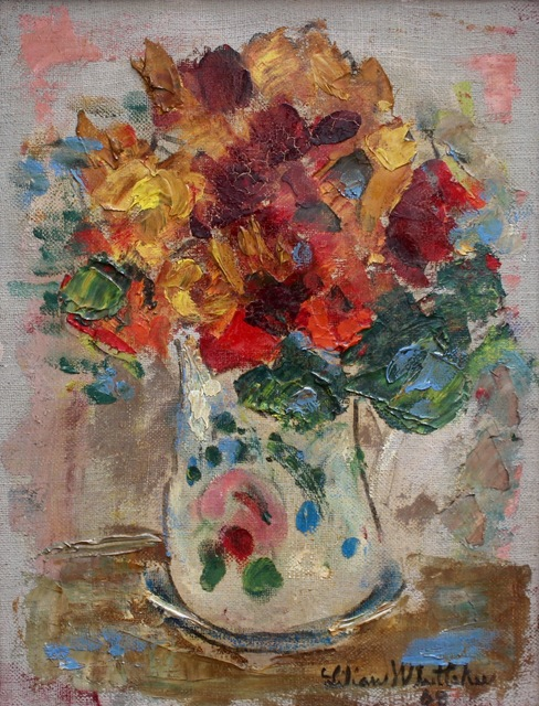 , ''Floral Bouquet in Painted Vase',' 1968, Bureau of Interior Affairs