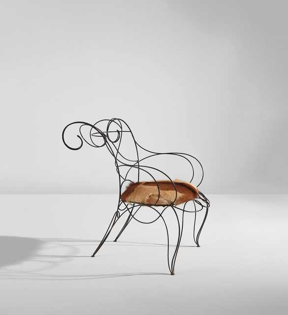 "André Dubreuil, '""Ram"" chair', circa 1987, Phillips"