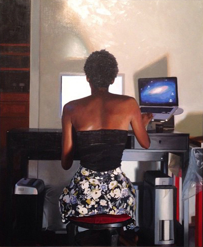 , 'The Model and the Monitor,' 2014, Bill Hodges Gallery