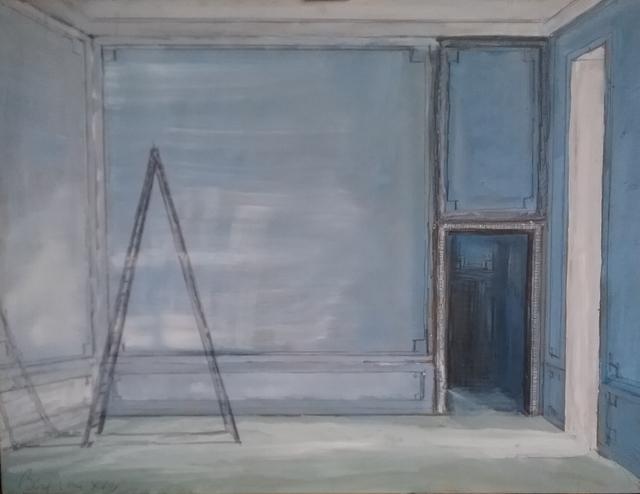 , 'Ladder in Blue Room,' 2018, Octavia Art Gallery