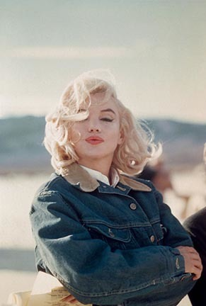 ", 'Marilyn Monroe in the Nevada desert during the filming of ""The Misfits"",' 1960, Staley-Wise Gallery"