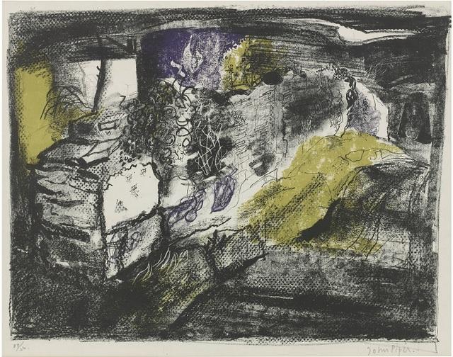 John Piper, 'Stone Wall, Anglesey', ca. 1949, Portland Gallery
