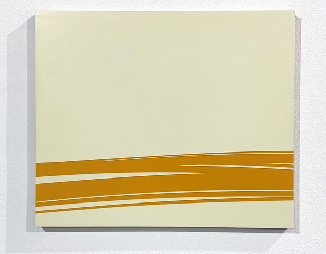 Volker Leonhardt, 'Futuristic Landscape (Orange)', 2002, Painting, Oil on Wood, iMuseum Vegas