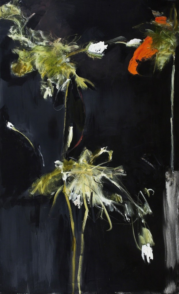 Farideh Lashai, 'Foliage in Darkness series (red flower),' 2007, Edward Tyler Nahem Fine Art LLC