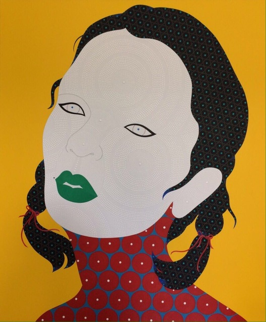 , 'She on Yellow with Green Lips,' 2017, La Lanta Fine Art