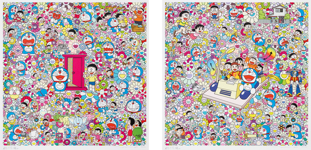 Takashi Murakami, 'There Are Many Dokodemo Doors; and We Can Go Anywhere With Mr Fujiko F. Fujio And The Time Machine!', 2019, Phillips