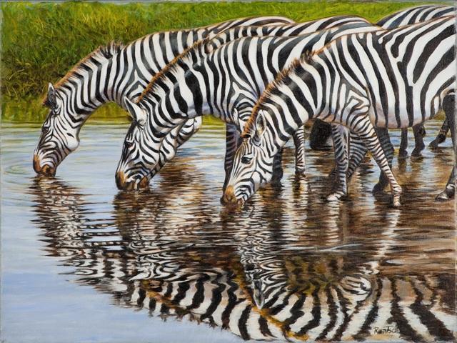 Werner Rentsch, 'Zebra Reflections', 2019, The Galleries at Salmagundi