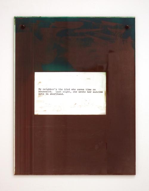 , 'Note Joke,' 2017, Halsey McKay Gallery