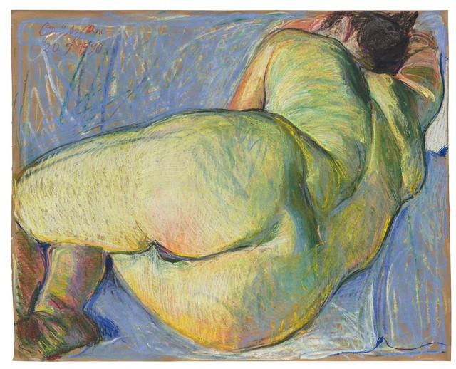 Johannes Grützke, 'Liegender Frauenakt', 1990, Drawing, Collage or other Work on Paper, Pastel on paper, Ludorff