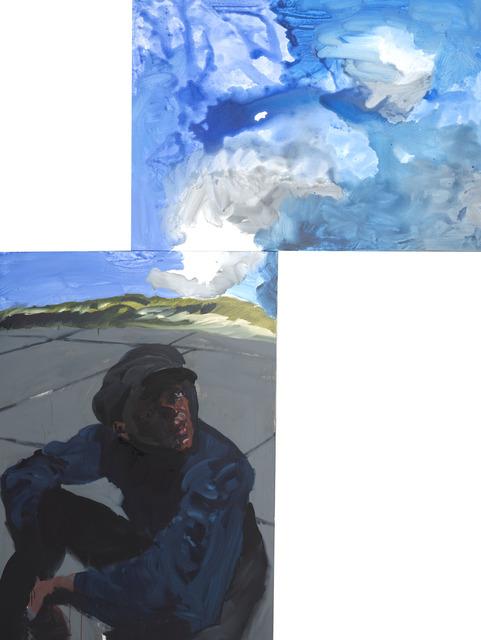 , 'Desmond an Brandungswand (a+b),' 2017, Albertz Benda