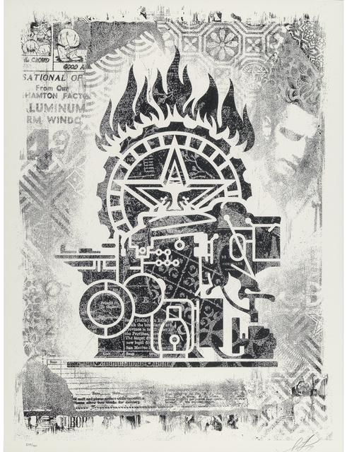 Shepard Fairey (OBEY), 'Damaged Stencil Series: Obey Printing Press', 2017, Taglialatella Galleries