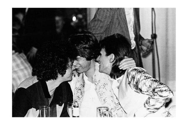 , 'Reed, Bowie, Jagger cuddling, Cafe Royale, London ,' 1973, The Bonnier Gallery