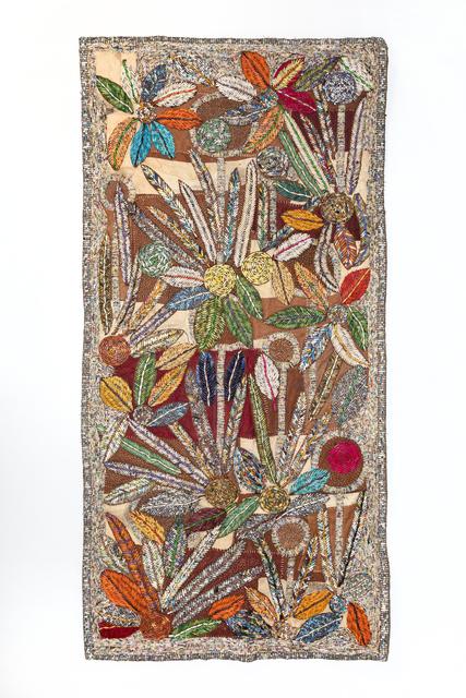Sanaa Gateja, 'Inner Garden III', 2019, Textile Arts, Paper and acrylic stitched on bark cloth, 50 Golborne