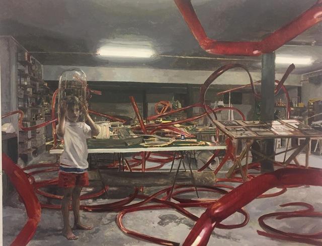 , 'Richmond bendiciendo los tubos,' 2017, Galeria Contrast