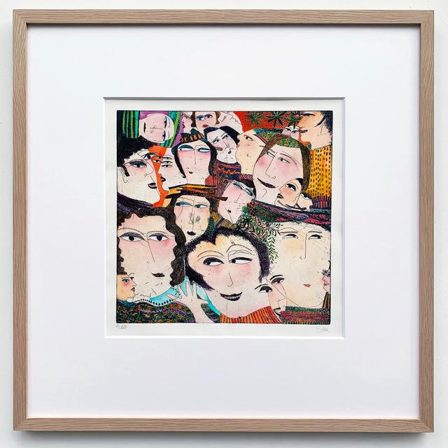 Kristiane Semar, 'Make Me Smile', 2020, Print, Handcoloured etching on Zerkall Alt Bern 250 gsm, Dreipunkt Edition