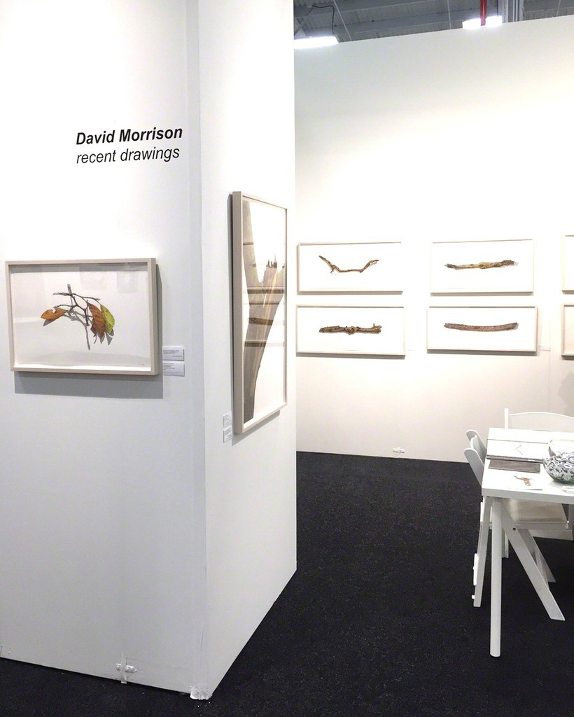 Installation view of the solo booth with latest drawings by David Morrison.