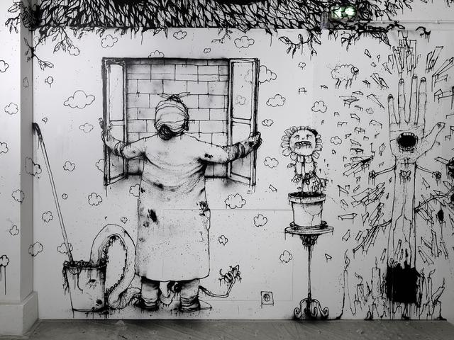 Dran, 'Attention de ne pas tomber (Be careful not to fall)', 2014, Installation, Palais de Tokyo