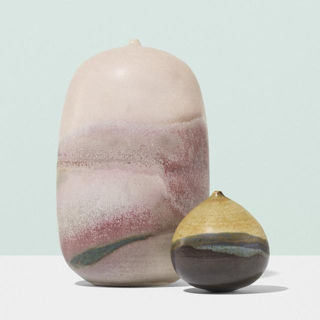 Toshiko Takaezu, 'Vessels, set of two', c. 1960, Wright