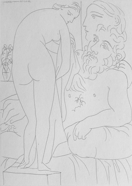 , 'Le repos du sculpteur devant un nu a la draperie,' 1933, Winchester Galleries
