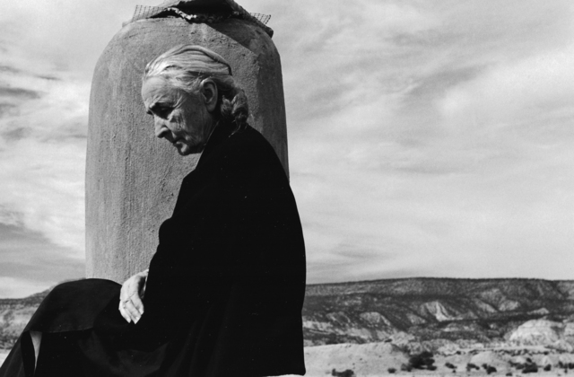 , 'Georgia O'Keeffe on roof at Ghost Ranch, Abiquiu, New Mexico,' 1967, Staley-Wise Gallery