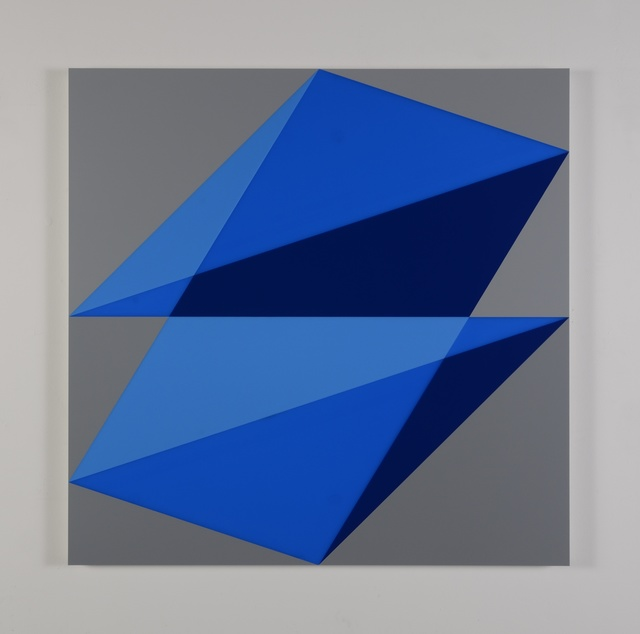 , 'Composition in 2648 Blue, 2051 Blue, 2114 Blue and 3001 Gray,' 2015, Miller Yezerski Gallery